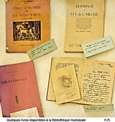 Quelques livres sur O. V. de L. Milosz à la bibliothèque de Fontainebleau