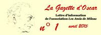 Les Amis de Milosz - La Gazette d'Oscar n°1