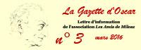 Les Amis de Milosz - La Gazette d'Oscar n°3