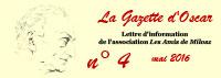 Les Amis de Milosz - La Gazette d'Oscar n°4