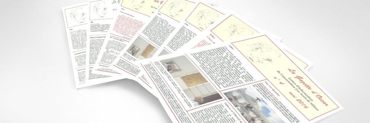 La Gazette d'Oscar, lettre d'information de l'association des amis d'Oscar Milosz
