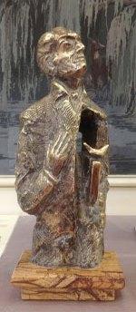 Statuette d'Oscar Milosz offerte par K. Pūdymas.