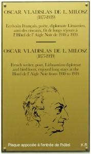 O. V. de L. Milosz - Hôtel de l'Aigle Noir à Fontainebleau