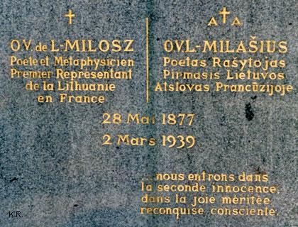 O. V. de L. Milosz - Cimetière de Fontainebleau