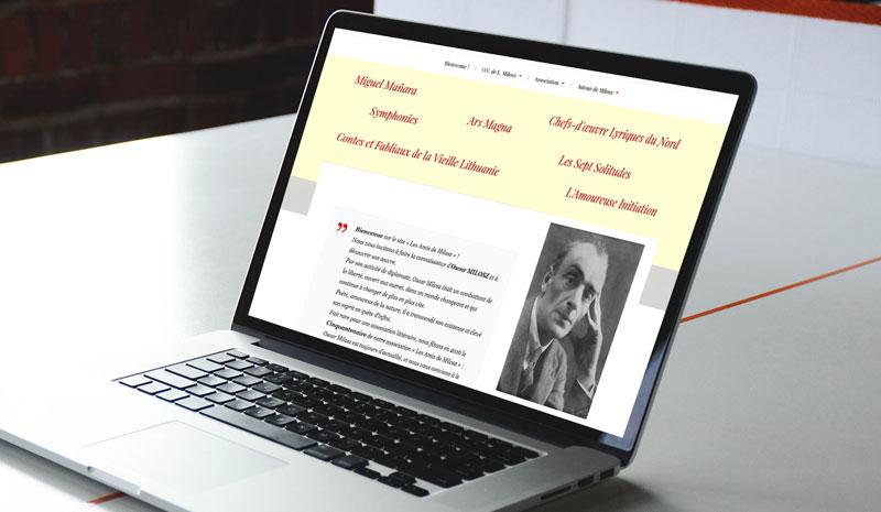O V de L Milosz - Vue du site amisdemilosz.com - Les Amis d'Oscar Milosz