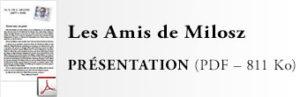 Les Amis de Milosz - Présentation de l'association - Document PDF en téléchargement (811 Ko)